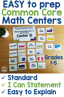 These standards aligned centers are easy for teachers to prep. The common core standard and I can statement is listed directly on the center so your students always understand what they are learning. Check out the many different ways you can use the centers in your classroom. These are available for first grade, second grade, third grade, fourth grade, and fifth grade!