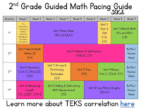 2nd Grade Math Pacing Guide for TEKS