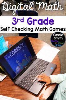 These are self checking digital math games for third grade.