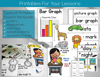 Posters and printables for first grade math