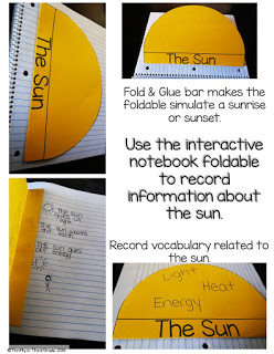 Interactive Notebook Foldable Information About the Sun