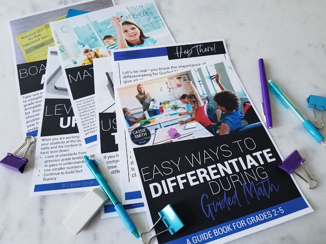 Guide Book-Easy Ways to Differentiate for Guided Math