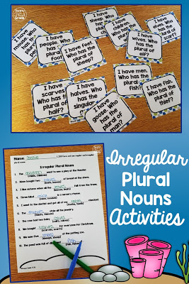 There are so many ways to practice irregular plural nouns with your second and third graders using this mini unit. It includes a fun class game (I have, who has), a sort, as well as worksheets and a final unit assessment. The assessment even comes in paper form or Google Classroom form to make your life easier.