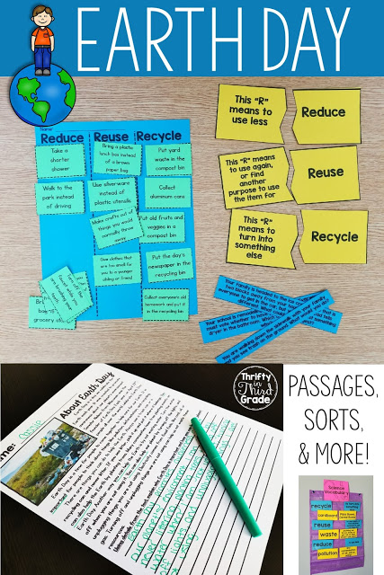 This Earth Day unit includes many activities for upper and lower grades students. Earth Day is a fun holiday to get students involved with in Elementary School. The importance and life skills you teach them will carry on as they become adults! This unit includes passages, sorts, vocabulary, a hands on activity, and much more! Download the preview to see all of what's included!