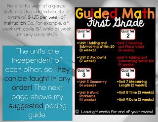 1st Grade Math year at a glance