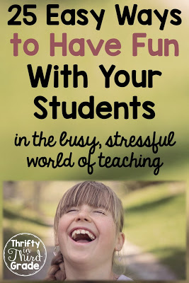 Here are some easy ways to bring fun to your classroom. It can be hard to find time for this with all of the demands put on teachers. But it's important to enjoy your students!