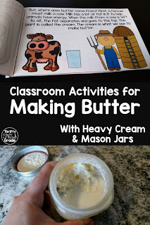 Activities for making butter in the classroom! Learn the steps, practice states of matter, and even make a mini book and spinning wheel to share what you have learned. This resource includes lots of activities for making butter in the classroom!