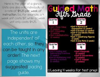 5th Grade Year at a Glance