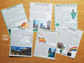 Practice Reading Comprehension with these St. Patrick's Day nonfiction passages!