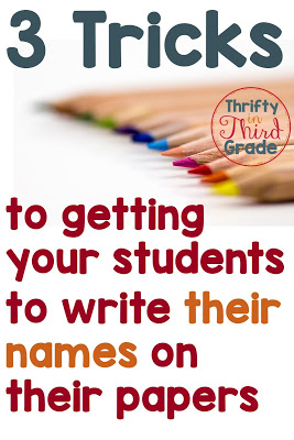 In this post I discuss three different tricks teachers can use to get their students to write their names on their papers.