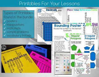 5th grade math posters and printables