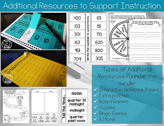 Interactive notebook pages and games