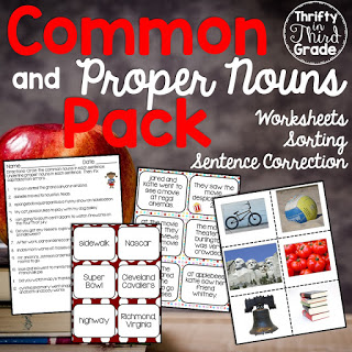 https://www.teacherspayteachers.com/Product/Common-and-Proper-Nouns-Activities-and-Practice-1087289