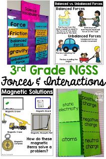 This third grade unit on forces and interactions aligns to NGSS* standards 3-PS2-1, 3-PS2-2, 3-PS2-3, 3-PS2-4.  It includes hands on science activities, passages, and much more to help you teach Forces & Interactions!