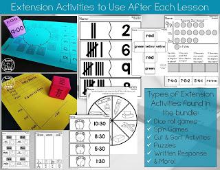 1st Grade Math Center Activities