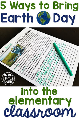 These Earth Day activities are a fun way to get your elementary students celebrating and learning about Earth Day. You can use the activities with students in lower and upper grades.