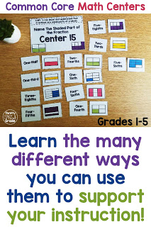 Math centers that can be used in a variety of ways. These are for first, second, third, fourth, and fifth grades. They are easy set up and your students can work on them independently. They are a great tool for Guided Math groups. They are also helpful as you spiral review throughout the year! Use them in math notebooks, or during centers!