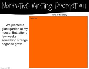 Example Narrative Writing Prompt for Google Classroom