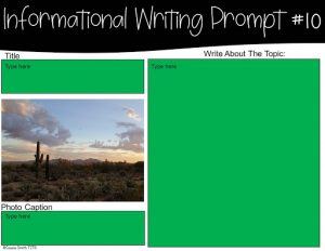 Example Informational Writing Prompt for Google Classroom