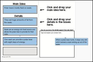 Google Classroom version of the main idea sort