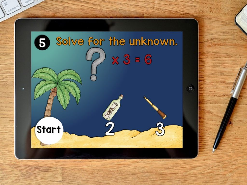 Digital Math Game for Multiplication Facts