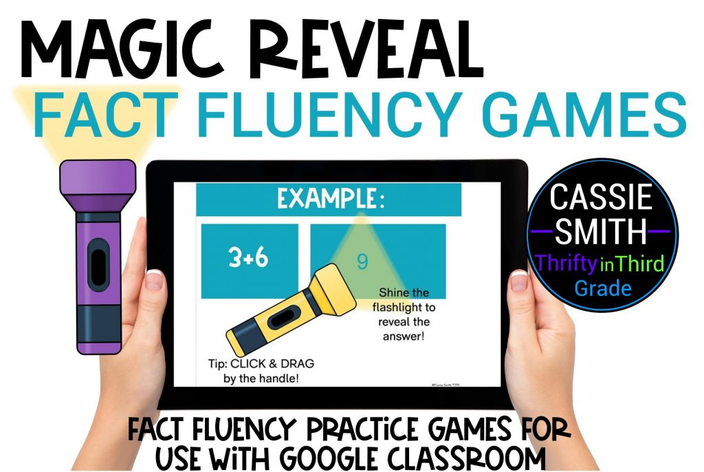 Magic Reveal Fact Fluency Game for Google Slides