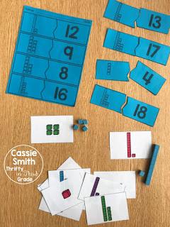 1st grade guided math center