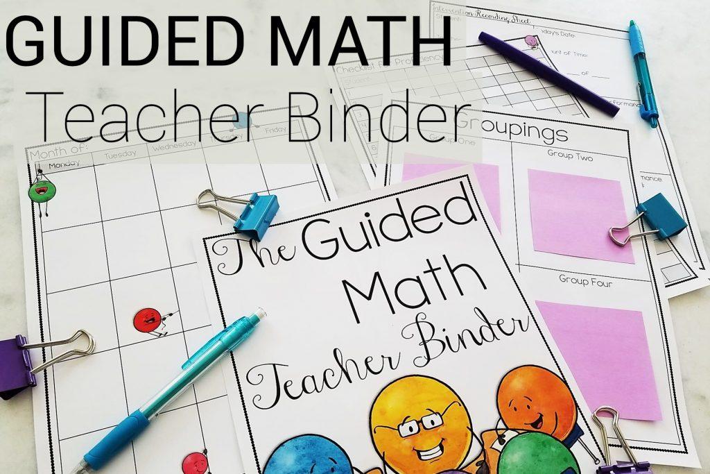 Guided Math Teacher Binder