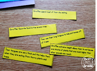 Students must determine which sentence ties them all together.