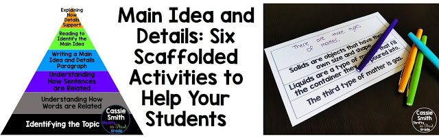 Struggling with teaching main idea and details to your class? These activities help you build their foundation as they learn the difference between topic, main idea, and supporting details.
