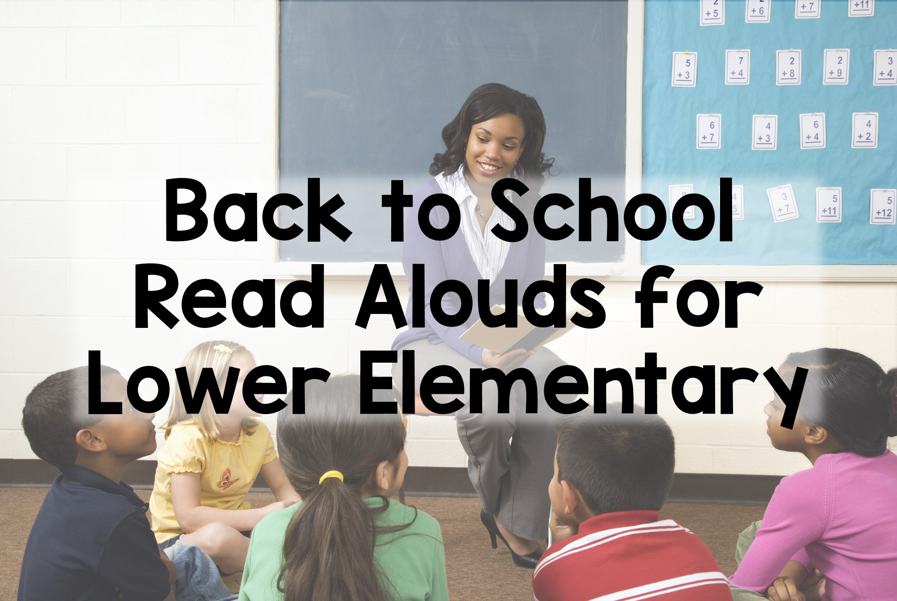 Back to School Read Aloud Suggestions and Activities for K-2