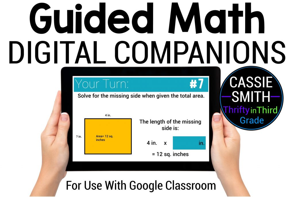 Guided Math Digital Companions for Use with Google Slides in Google Classroom