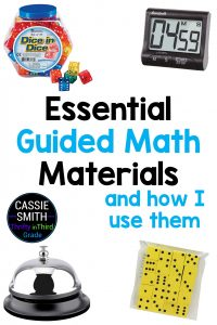Learn what materials are essential to my Guided Math time and how I use them