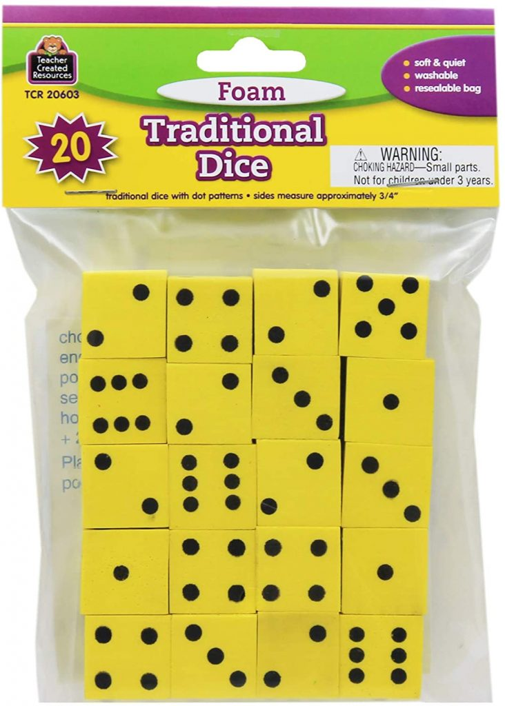 Guided Math Materials: Foam Dice