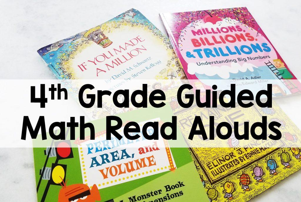 4th Grade Guided Math Read Aloud Books