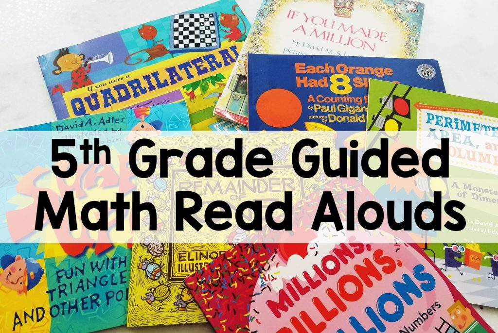 5th Grade Guided Math Read Aloud Books