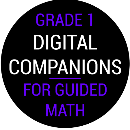 First Grade Guided Math Digital Companions
