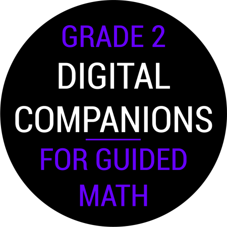 Second Grade Guided Math Digital Companions