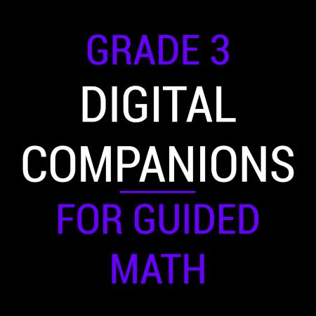 Third Grade Guided Math Digital Companions