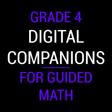Fourth Grade Guided Math Digital Companions