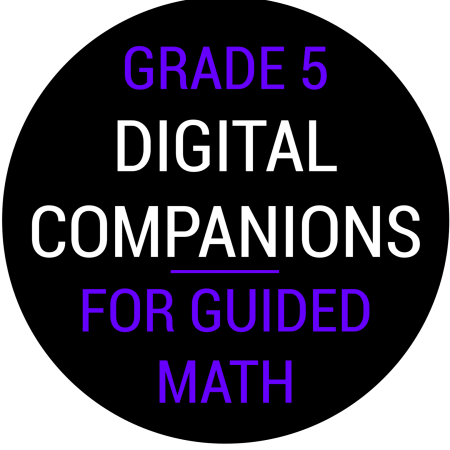 Fifth Grade Guided Math Digital Companions