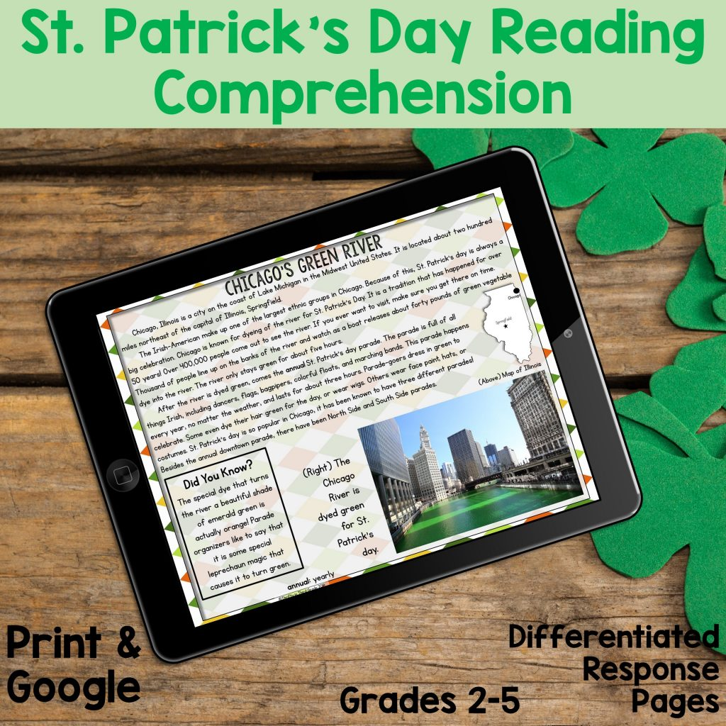 St. Patrick's Day Nonfiction Passages and Reading Comprehension