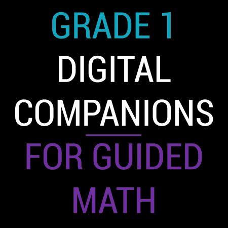 First Grade Guided Math Digital Companions