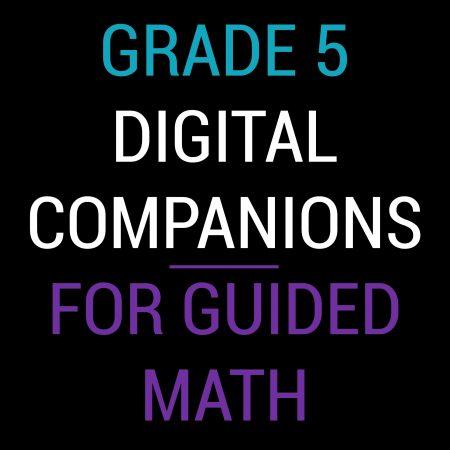 Fifth Grade Guided Math Digital Companions